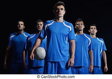 futbol, jugadores, equipo