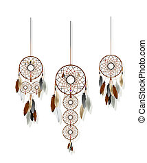 Dreamcatchers set - Native American-Indian dreamcatcher...