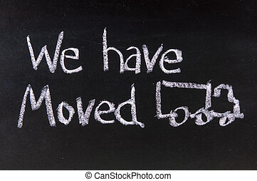 We have Moved - The word We
