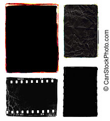 Photo edges and frames - Series of four darkroom 35mm film...