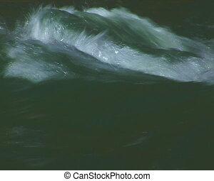 The Mountain river. - Mountain torrent.