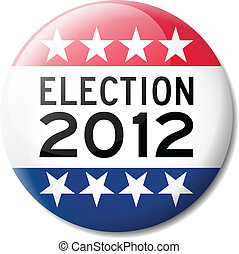 Badge for American election 2012 - Vector Illustration of a...