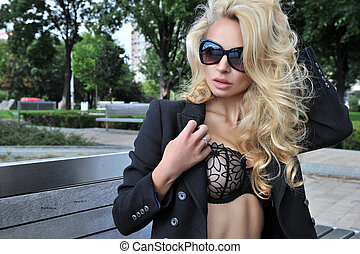 Sexy woman with sunglasses