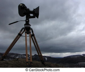 Film-chamber. Time-lapse. - clouds, sky, timelapse, camera,...