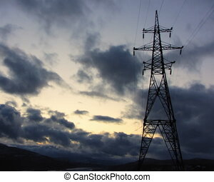 Electricity pylons - Electricity pylon energy time-lapse...