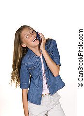Young Girl on Phone
