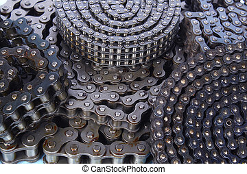 Roller chain - roller chains for machines close up