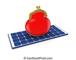 Solar energy conceptIsolated on white background3d rendered...