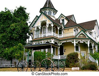 Classic Victorian Residence - Yellow and white Victorian...