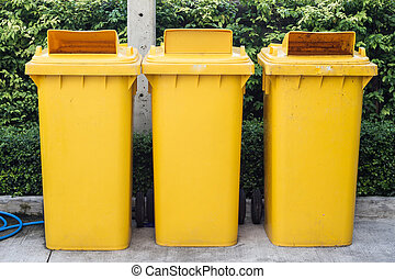 amarela, Lixo, caixas