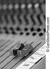control, sonido, maestro, tabla, Volumen