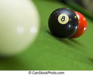Stuck behind the 8-ball - 8-ball blocking shot on ball in...