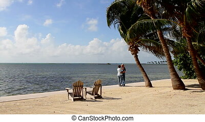 Tropical Retirement Romance - Mature retired married couple...