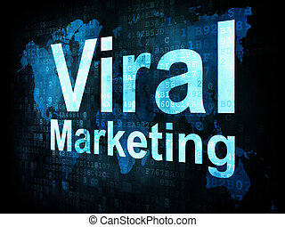 Marketing concept: pixelated words Viral Marketing on...