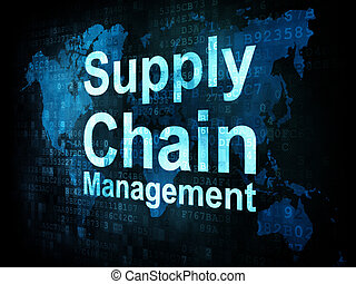 Marketing concept: pixelated words Supply Chain Management...