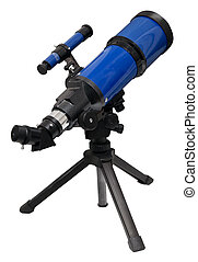 Telescope isolated on white Clipping path included