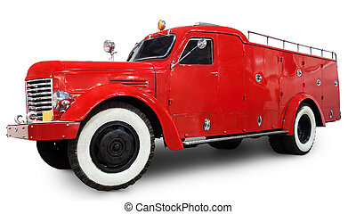 1950s fire truck. Clipping path included.