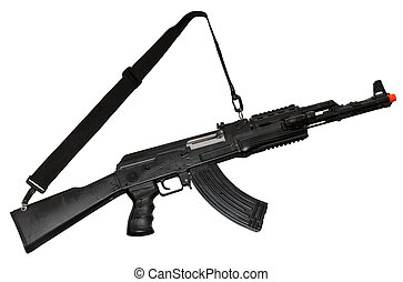 AK-47 machine gun - Kalashnikov AK-47 machine gun isolated...