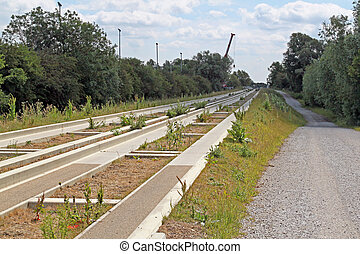 The Cambridgeshire guided bus way, linking St Ives with...