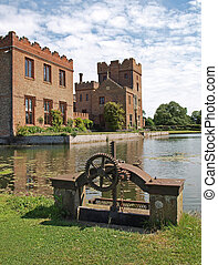 Oxburgh Hall, a moated country house. - Oxburgh Hall is a...