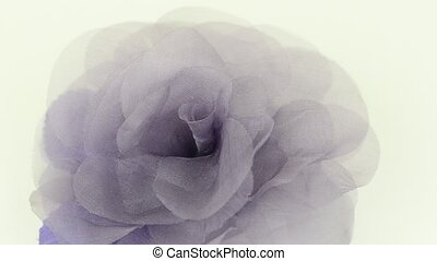Purple fabric flower