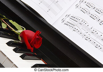 Piano Sheet Music with Rose - Sheet music with rose piano