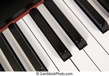 Piano - piano detail- close-up
