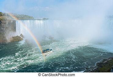 Rainbow Rises from Niagara Falls