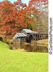 Autumn at Mabry Mill 3 - Mabry Mill, a restored gristmill on...