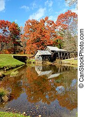 Autumn at Mabry Mill 7 - Mabry Mill, a restored gristmill on...