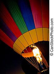Hot Air Balloon torch - Beautiful hot air ballon with flame