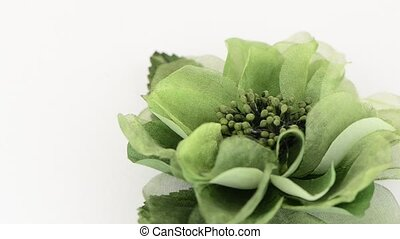 Green fabric flower