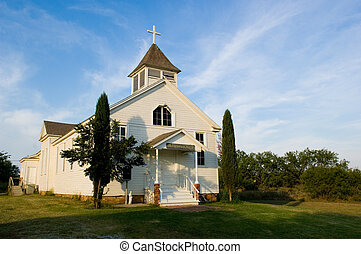 Old American pioneer country Church - Old American Country...