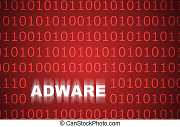 Adware Abstract Background in Web Security Series Set