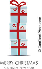 merry christmas red white gift box
