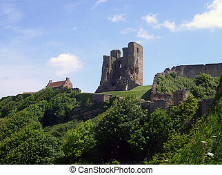 Scarborough Castle view - View of Scarborough\\\'s Norman...