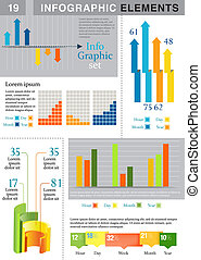 INFOGRAPHIC presentation template - template graph pie chart...