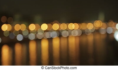 night Kremlin Embankment bokeh - night view on the Kremlin...