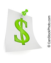 Dollar sign icon.Isolated on white.3d rendered illustration.