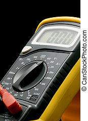Digital multimeter - object on black - electrical...