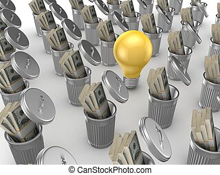 Investment conceptIsolated on white background3d rendered...