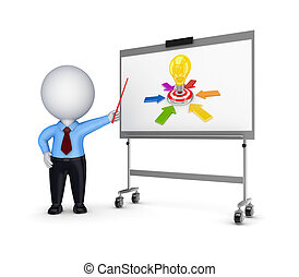Business training conceptIsolated on white background3d...