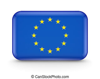 European Union flag icon.Isolated on white background.