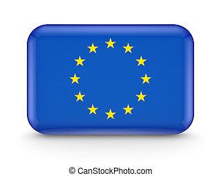 European Union flag icon.Isolated on white background.