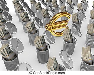 Investment concept.Isolated on white background.3d rendered...