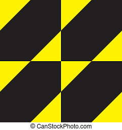 Yellow on black attention sign