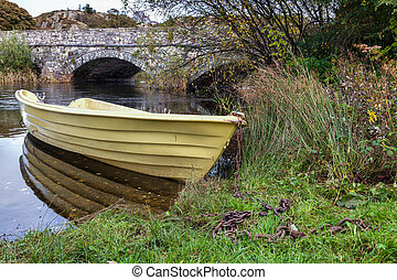 Yellow rowing boat
