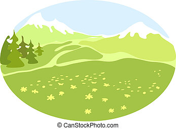 Mountain valley Illustrations and Clip Art. 3,806 Mountain ...