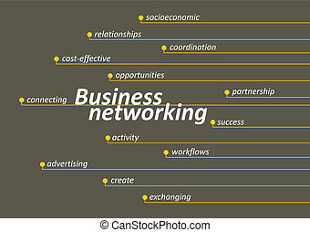 Business networking diagram with keys