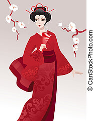 Pretty geisha